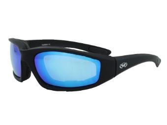 Motorradbrille Kickback GT blau verspiegelt