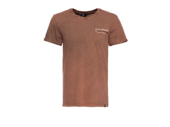 Roll-Up T-Shirt King Kerosin Acid Wash Chopper Until Death mit Backprint