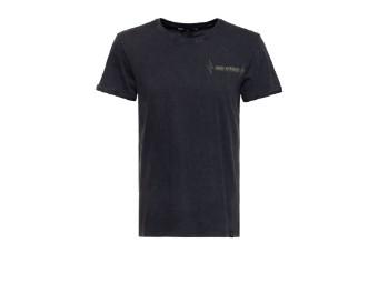 Roll-Up T-Shirt King Kerosin Acid Wash Never mit Backprint