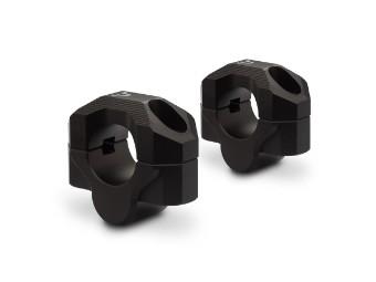 SW MOTECH Lenkererhöhung Set für Ø 28 mm Lenker. H=20 mm Gefräst schwarz