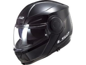 Klapphelm LS2 FF902 Scope Solid Black schwarz glanz