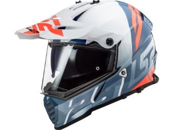 Helm LS2 MX436 Pioneer Evo Evolve white cobalt blue