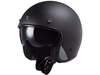 LS2 OF601 Bob Solid Matt Black schwarzmatt Open Face Helm Jethelm Motorradhelm