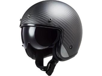 LS2 OF601 Bob Carbon matt Carbonhelm Open Face Jethelm Motorradhelm