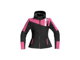 Softshelljacke DIFI Jamie Damen softshell hoodie schwarz pink