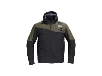 Softshelljacke DIFI Jamie Herren softshell hoodie schwarz olivegrün