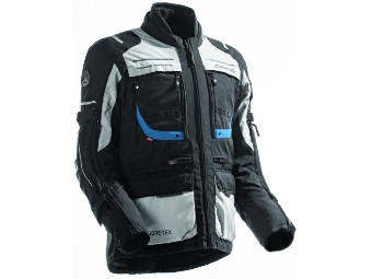 Motorradjacke Dane Reykholt Gore Tex schwarz grau blau