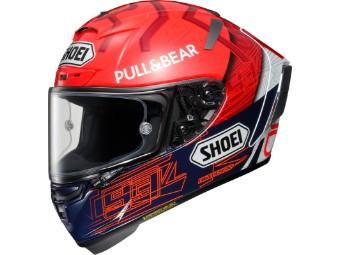 Motorradhelm Shoei X-Spirit III Marquez 6 TC-1 Blue Red Fluo White