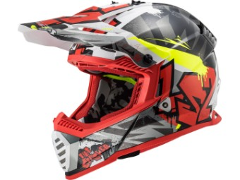 Crosshelm LS2 MX 437 Fast Evo Crusher rot schwarz