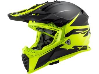 Crosshelm LS2 MX 437 Fast Evo Roar schwarz matt yellow
