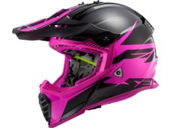 Crosshelm LS2 MX 437 Fast Evo Roar schwarz matt purple