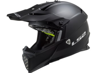 Crosshelm LS2 MX 437 Fast Evo Solid schwarz matt