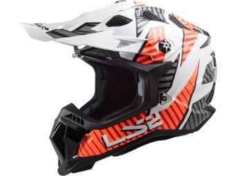 Crosshelm LS2 MX700 Subverter Evo Astro White Orange