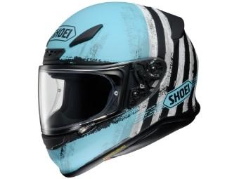 Helm Shoei NXR Shorebreak TC-2 blau matt