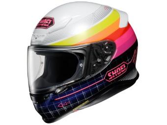 Helm Shoei NXR Zork TC-7 weiß pink gelb