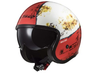 Jethelm LS2 OF599 Spitfire Rust White Red