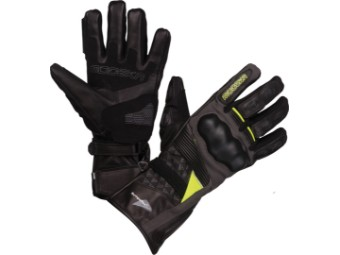 Motorradhandschuhe Modeka Panamericana Lady schwarz gelb Sympatex Membrane