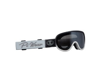 Motorradbrille Piwear Arizona Schutzbrille Band Grau, Glas Getönt, schwarz titangrau matt