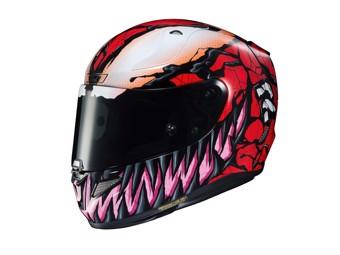 Helm HJC RPHA 11 Marvel Carnage MC1 Rot Schwarz