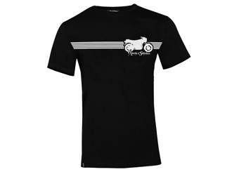 T-Shirt Rusty Stitches Stripe Men Black