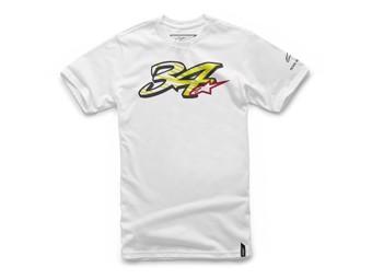 T-Shirt Alpinestars Kevin Schwantz 34 Tee white