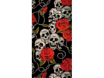 Halstuch Modeka Multifunktionstuch 110630 Skulls and Roses