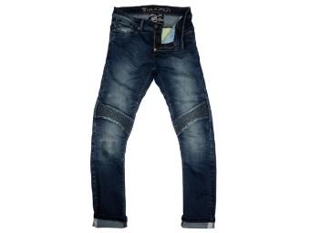 Motorradjeans Modeka Sorelle Lady Jeans stone wash blue