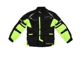 Kinder Motorradjacke Modeka Tourex II Kids schwarz gelb
