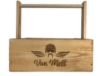 Biker-Handtasche Holzbox Holzkiste