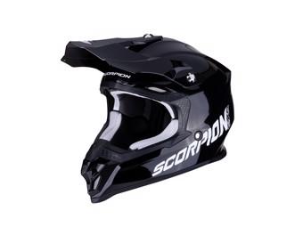 Crosshelm Scorpion VX 16 Air Solid Noir schwarz glanz MX Motocross