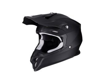 Crosshelm Scorpion VX 16 Air Solid Noir Mat schwarz matt MX Motocross