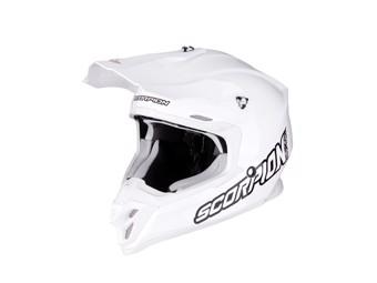 Crosshelm Scorpion VX 16 Air Solid Blanc weiß MX Motocross
