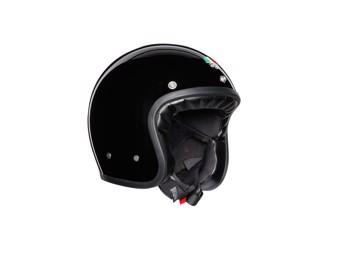 Legends X70 Solid Black Open Face Helm Jethelm Motorradhelm