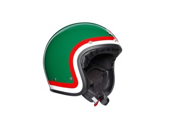 Legends X70 Pasolini Green Open Face Helm Jethelm Motorradhelm