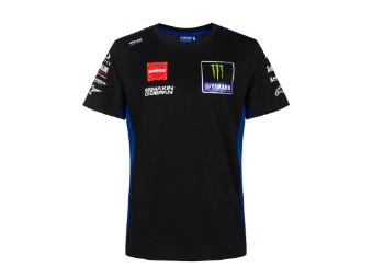 T-Shirt Replica Monster Energy Yamaha Team 2021 black blue