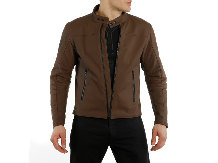 1533842-72D-Dainese-Mike-2-Leather-Jacket-brown-braun-Lederjacke-Motorradjacke-Detail Model 1