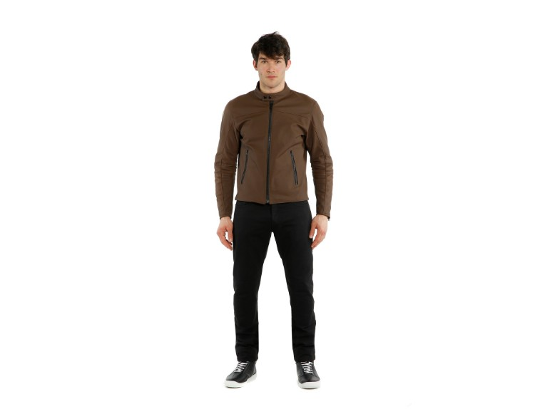 1533842-72D-Dainese-Mike-2-Leather-Jacket-brown-braun-Lederjacke-Motorradjacke-Detail Model 5