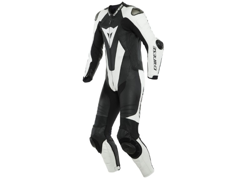 Dainese Laguna Seca 5 Einteiler 1513467622 schwarz weiß racing suit lederkombi-1