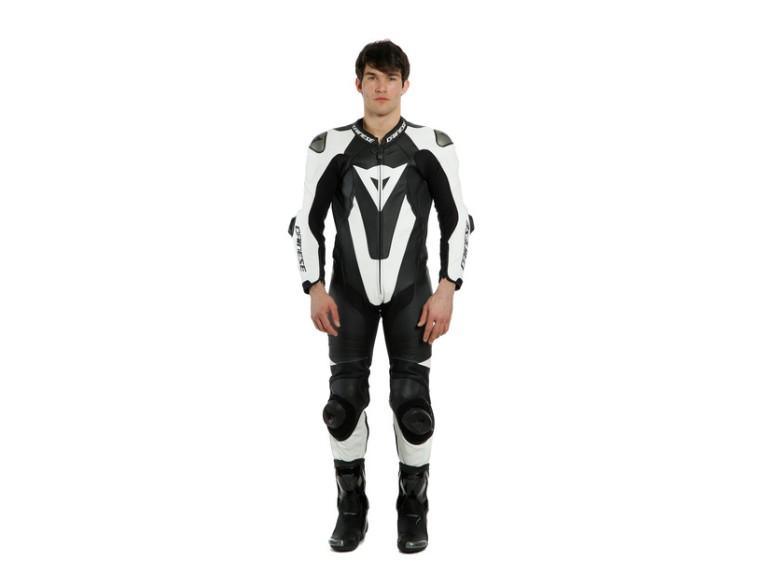 Dainese Laguna Seca 5 Einteiler 1513467622 schwarz weiß racing suit lederkombi-Detail 1