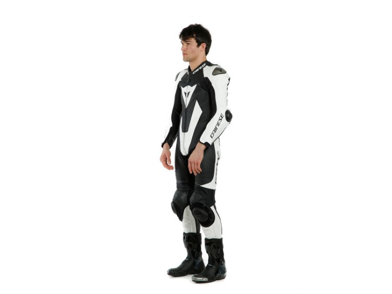 Dainese Laguna Seca 5 Einteiler 1513467622 schwarz weiß racing suit lederkombi-Detail 2