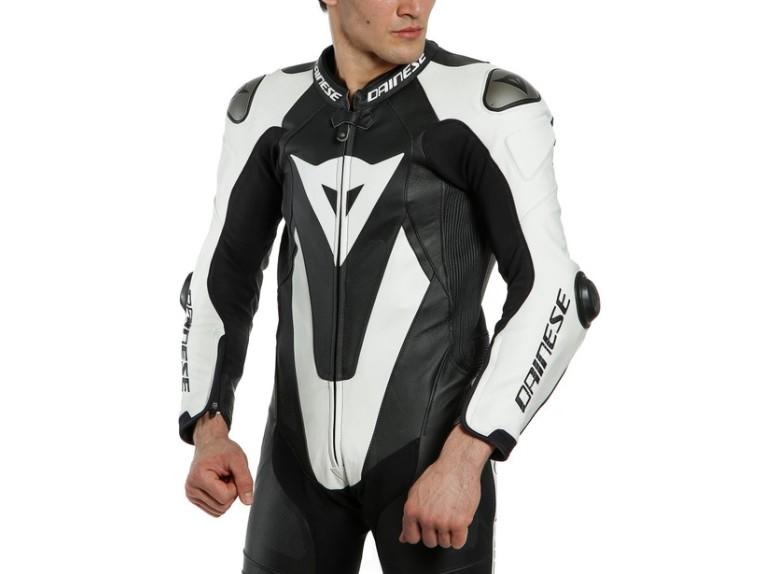 Dainese Laguna Seca 5 Einteiler 1513467622 schwarz weiß racing suit lederkombi-Detail 3