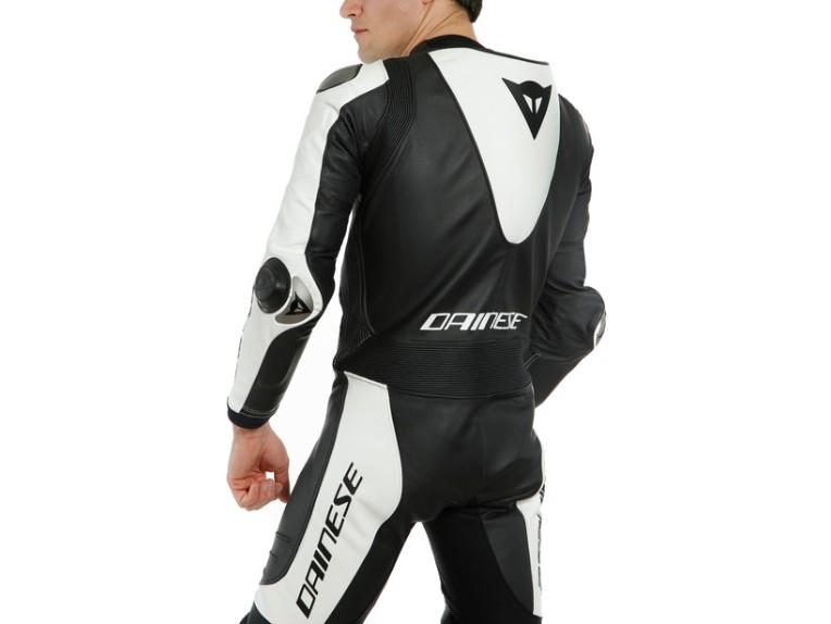 Dainese Laguna Seca 5 Einteiler 1513467622 schwarz weiß racing suit lederkombi-Detail 4