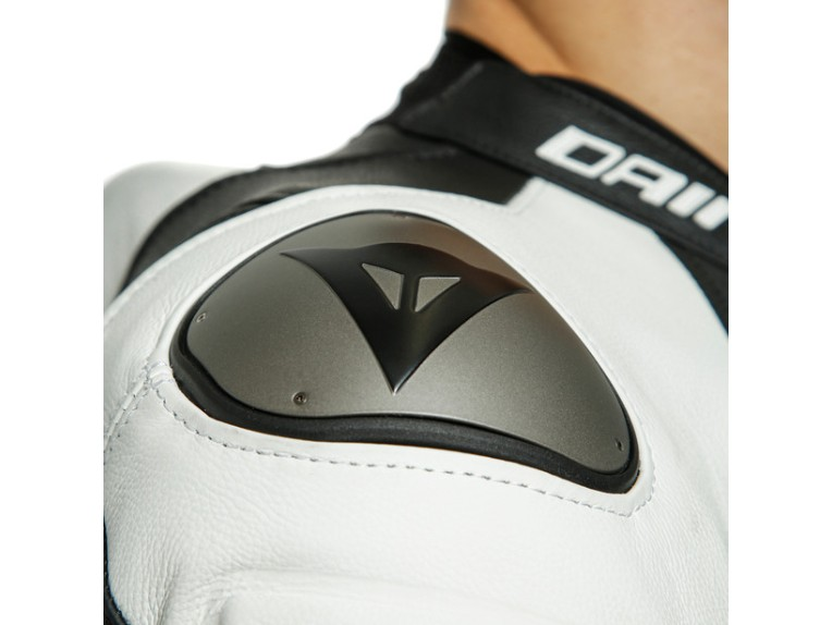 Dainese Laguna Seca 5 Einteiler 1513467622 schwarz weiß racing suit lederkombi-Detail 6