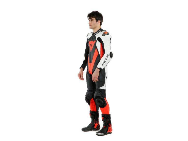 Dainese Laguna Seca 5 Einteiler 1513467N32 weiß schwarz rot racing suit lederkombi-10