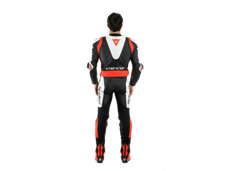 Dainese Laguna Seca 5 Einteiler 1513467N32 weiß schwarz rot racing suit lederkombi-11