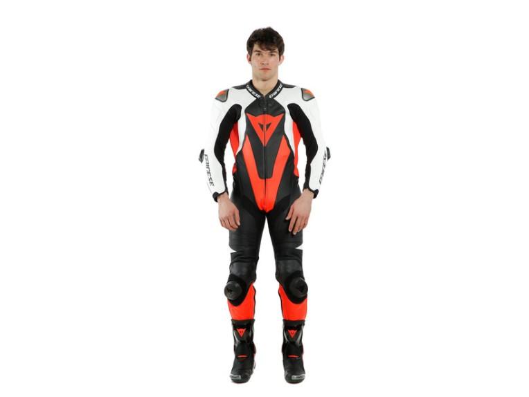 Dainese Laguna Seca 5 Einteiler 1513467N32 weiß schwarz rot racing suit lederkombi-12