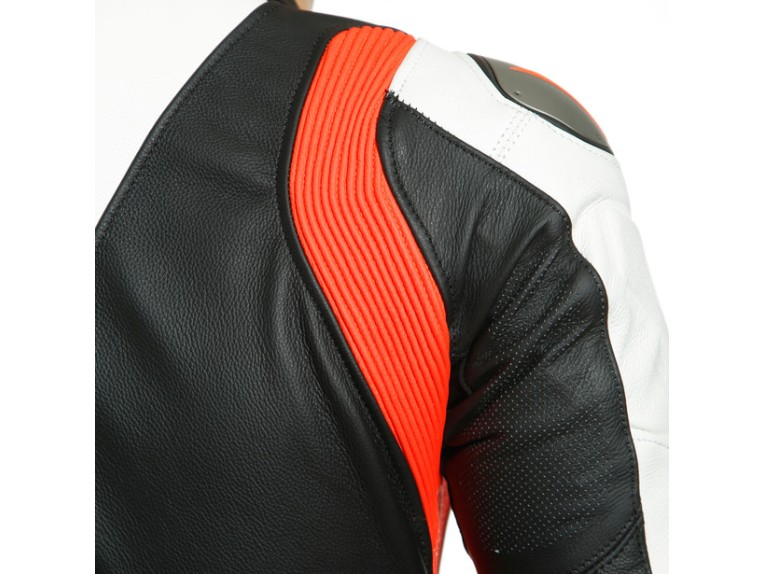 Dainese Laguna Seca 5 Einteiler 1513467N32 weiß schwarz rot racing suit lederkombi-3