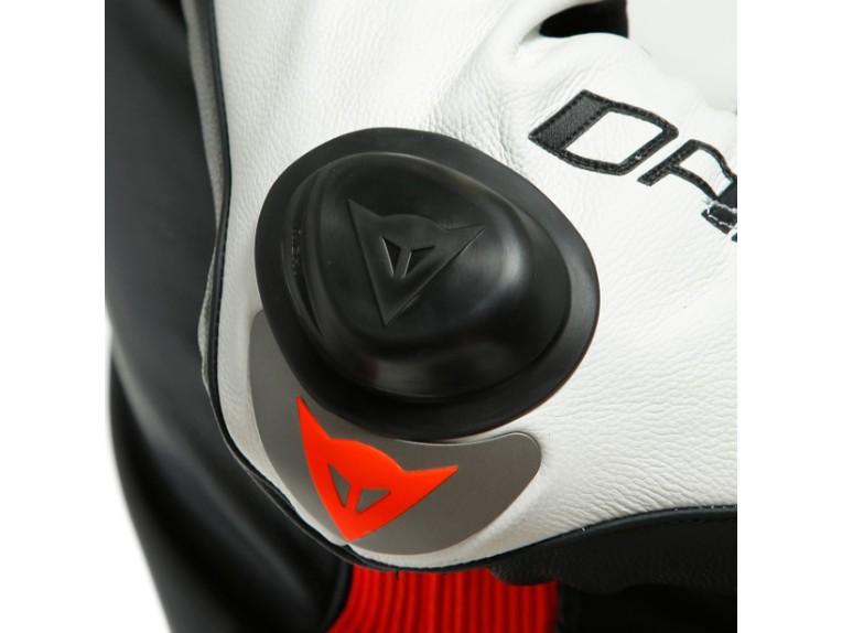Dainese Laguna Seca 5 Einteiler 1513467N32 weiß schwarz rot racing suit lederkombi-4