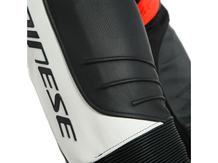 Dainese Laguna Seca 5 Einteiler 1513467N32 weiß schwarz rot racing suit lederkombi-5