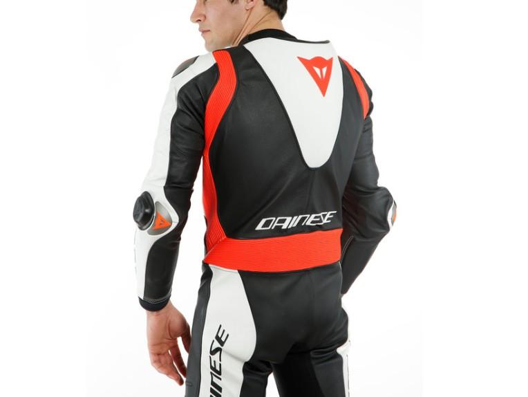 Dainese Laguna Seca 5 Einteiler 1513467N32 weiß schwarz rot racing suit lederkombi-7